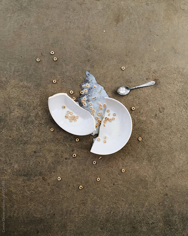 Cry over spilled cereal by Connor Dwyer for Stocksy United