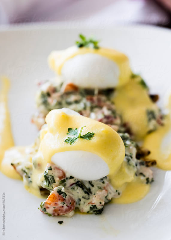 Lobster Eggs Benedict by Jill Chen for Stocksy United