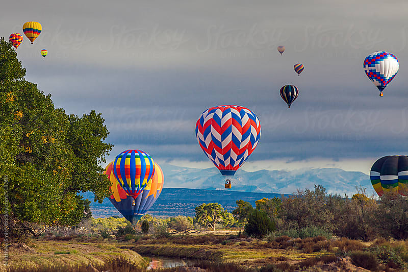 Hot Air Balloons in New Mexico by Matthew Smith for Stocksy United