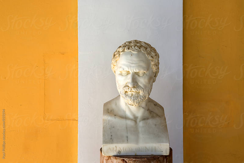 Bust of Demosthenes in the Achilleion, Corfu. by Paul Phillips for Stocksy United