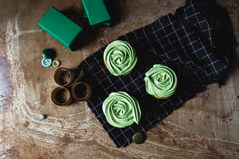 Green cupcakes by Tatjana Ristanic for Stocksy United