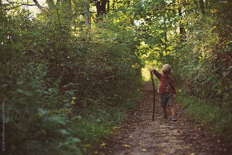 Boy With A Stick #4 by ALICIA BOCK for Stocksy United