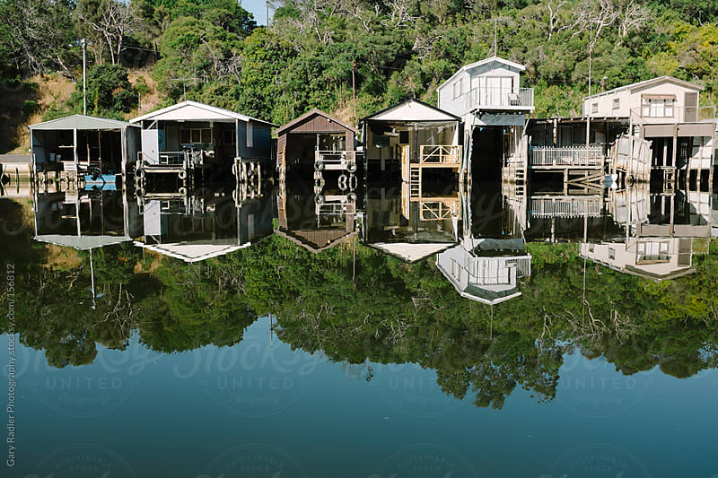 River cabins on the Glenelg River, Australia by Gary Radler Photography for Stocksy United