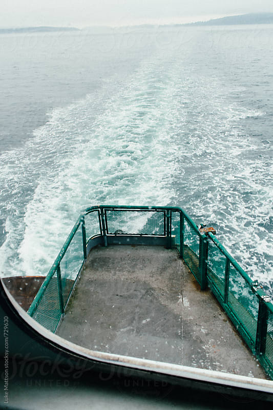 Sun Deck Of Washington State Ferry On Pacific Ocean by Luke Mattson for Stocksy United