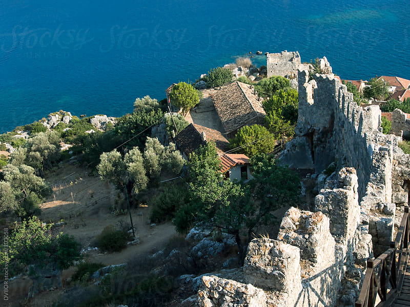 View down castle wall Kekova, Simena, Turkey by DV8OR for Stocksy United
