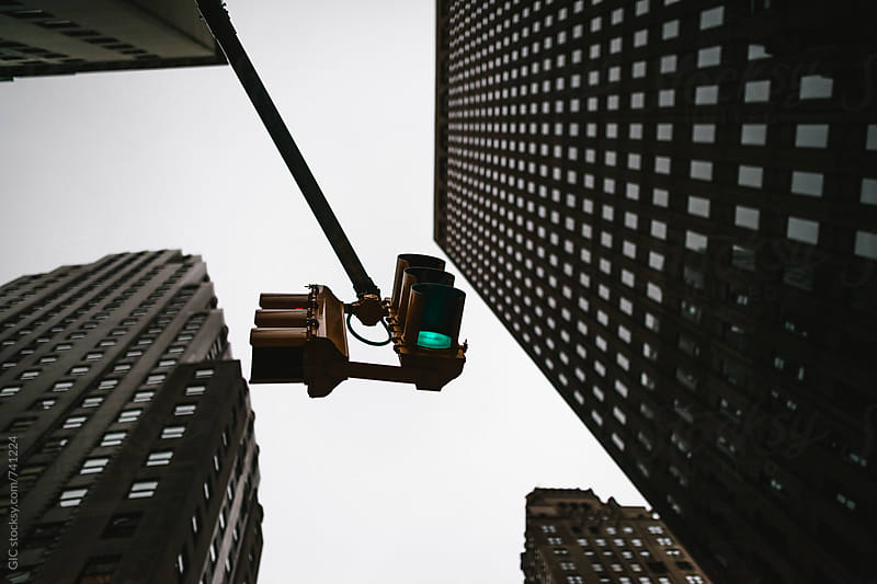 Light traffic in New York City by Simone Becchetti for Stocksy United