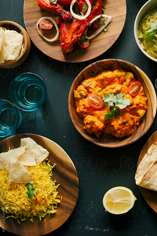Assorted Indian food by Alita Ong for Stocksy United