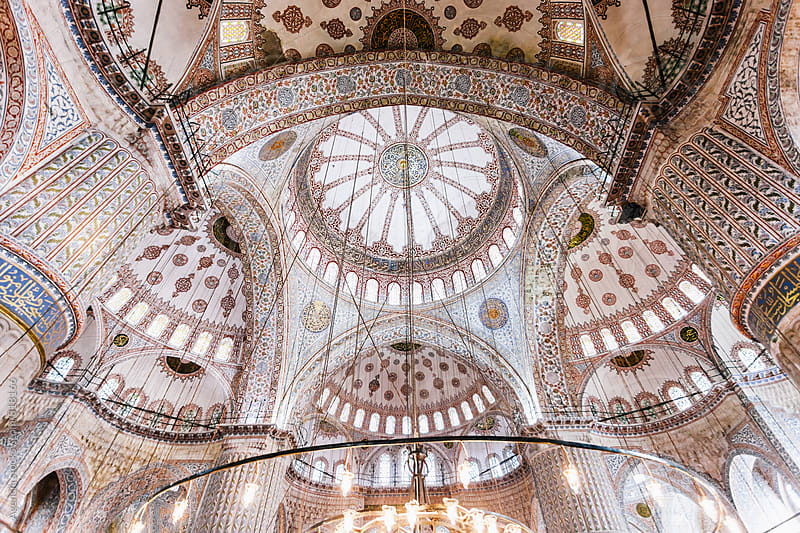 Blue Mosque Interior by Agencia for Stocksy United