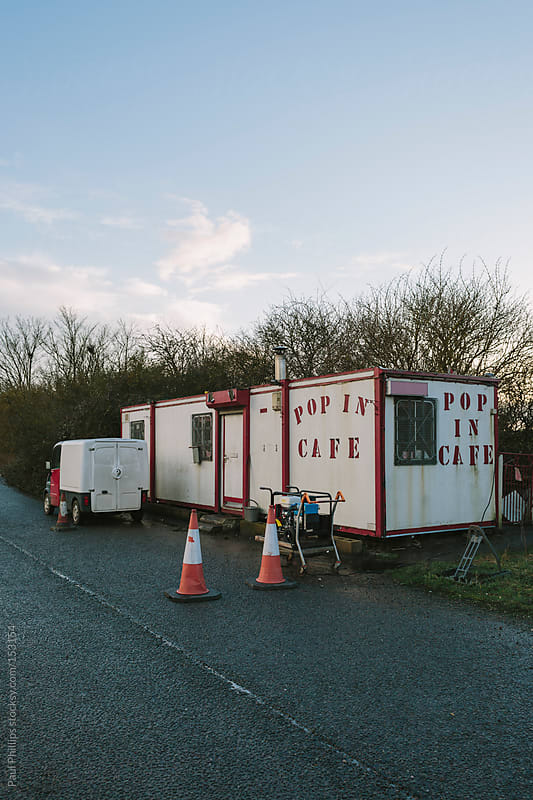 Roadside diner (snack bar) worn and desolate by Paul Phillips for Stocksy United