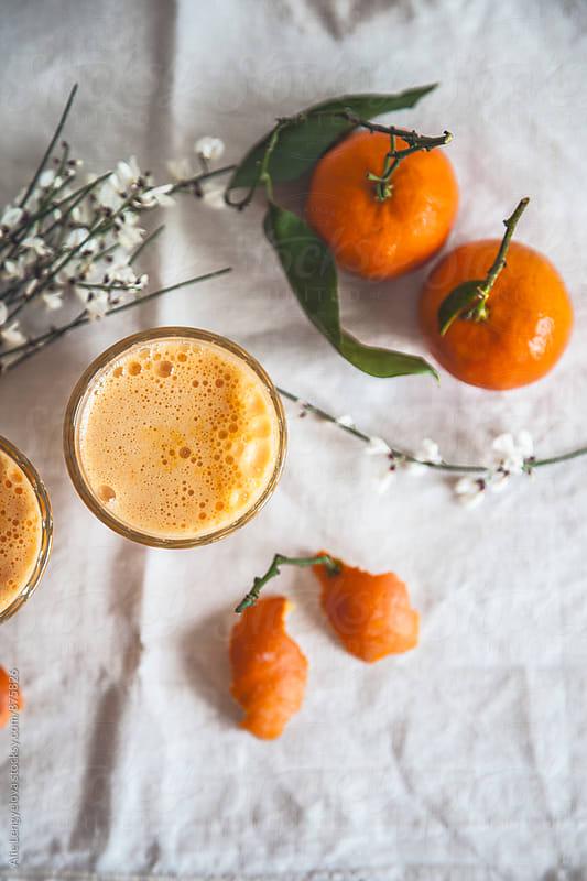 Delicious Mandarin Smoothie by Alie Lengyelova for Stocksy United