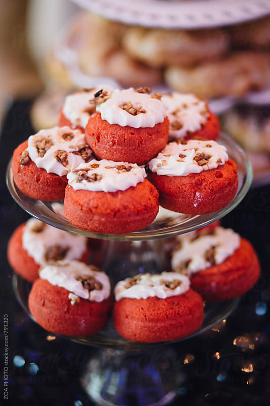 Red Velvet Donuts by ZOA PHOTO for Stocksy United