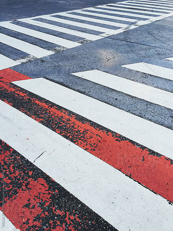 Japan - Zebra Crossing in Tokyo by VISUALSPECTRUM for Stocksy United