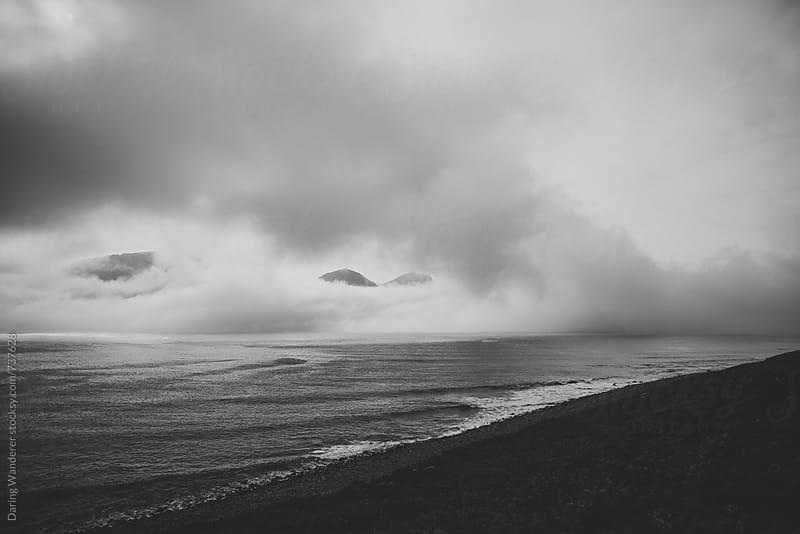 Cliffs and Atlantic Ocean in northern Iceland near Hornstrandir by Daring Wanderer for Stocksy United