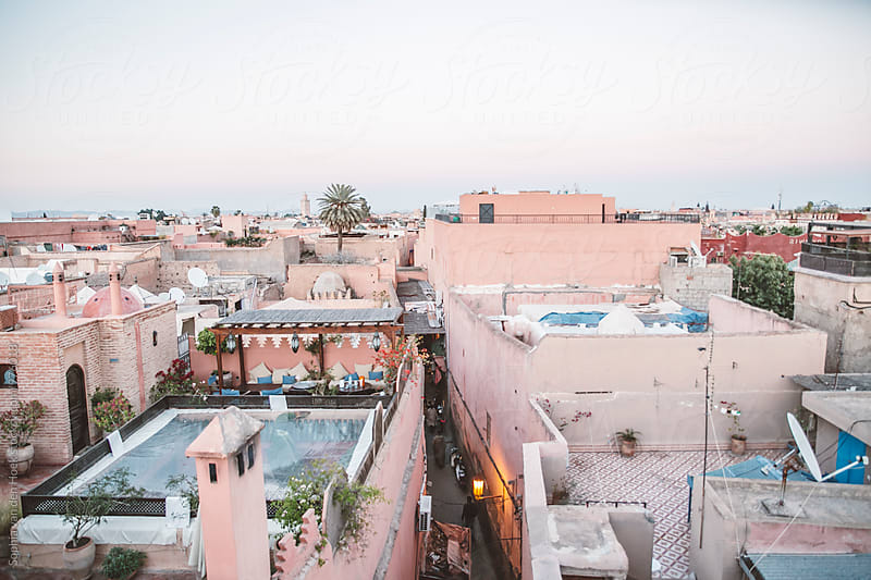 Overview of Marrakech by Sophia van den Hoek for Stocksy United