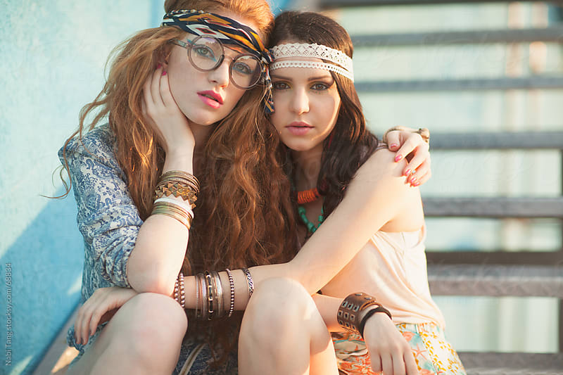 Modern hippies portrait by Nabi Tang for Stocksy United