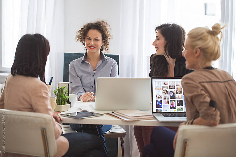 Businesswomen in a Meeting by Lumina for Stocksy United