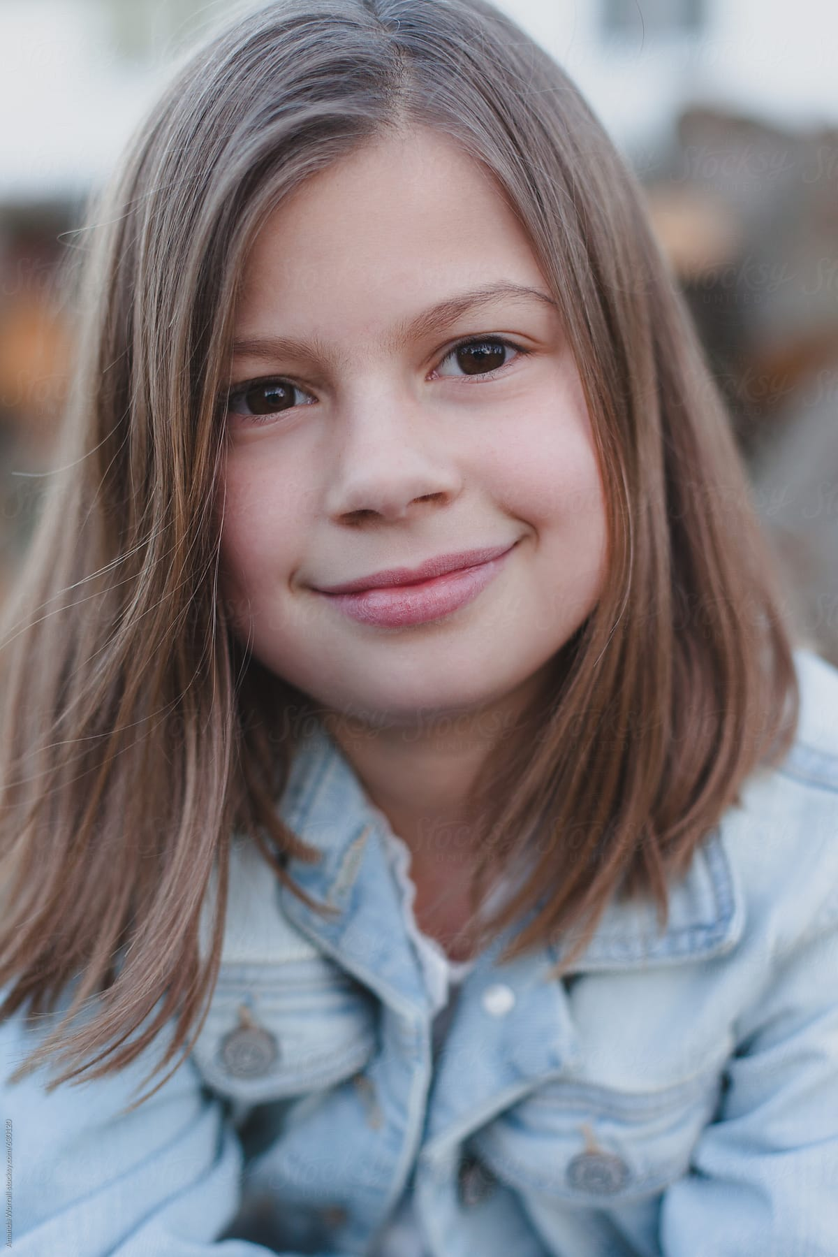 Close up portrait of 8 year old girl by Amanda Worrall ...