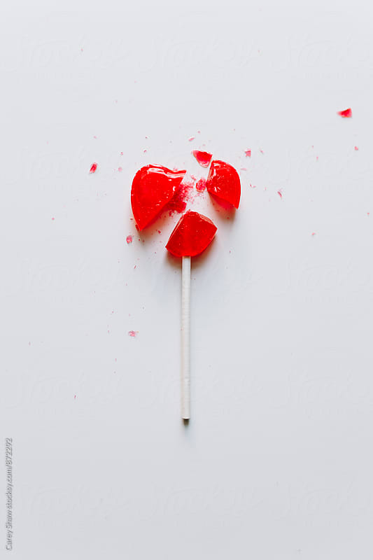 Broken heart candy by Carey Shaw for Stocksy United