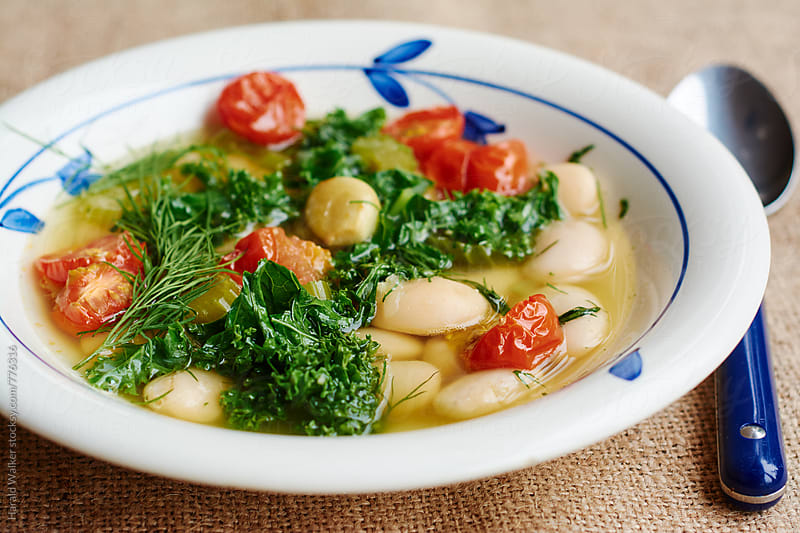 Greek Giant Bean Stew by Harald Walker for Stocksy United