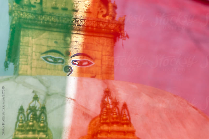 Close up of Swayambhunath Stupa. by Shikhar Bhattarai for Stocksy United