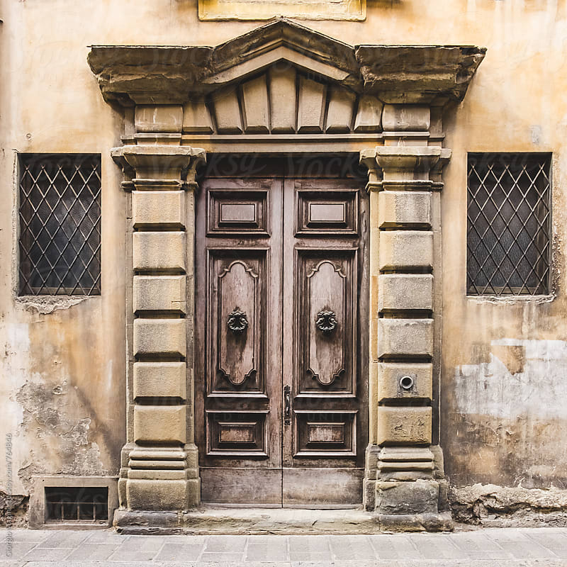 18th Century Massive Wooden Gate in Italy by Giorgio Magini for Stocksy United