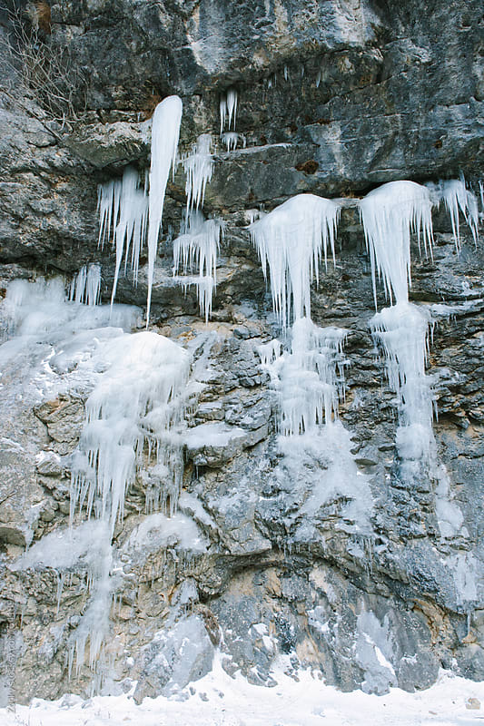Rock Wall Icicles by Zocky for Stocksy United