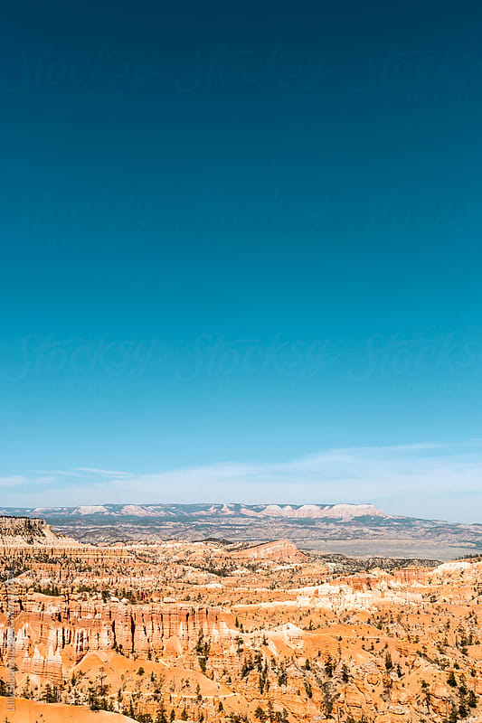 Panoramic view of bryce canyon, intense blue sky by Lilly Bloom for Stocksy United