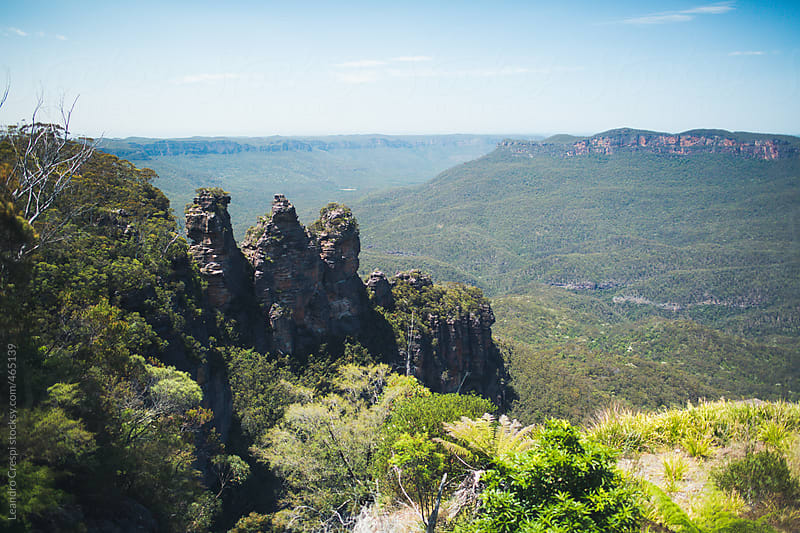 The three sisters, The Blue Mountains by Leandro Crespi for Stocksy United