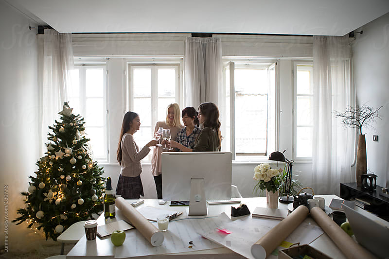 Christmastime at Work by Lumina for Stocksy United