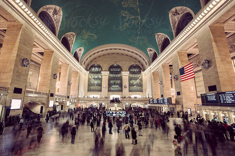 Grand Central station bustling  by Christopher Troy Dowsett for Stocksy United