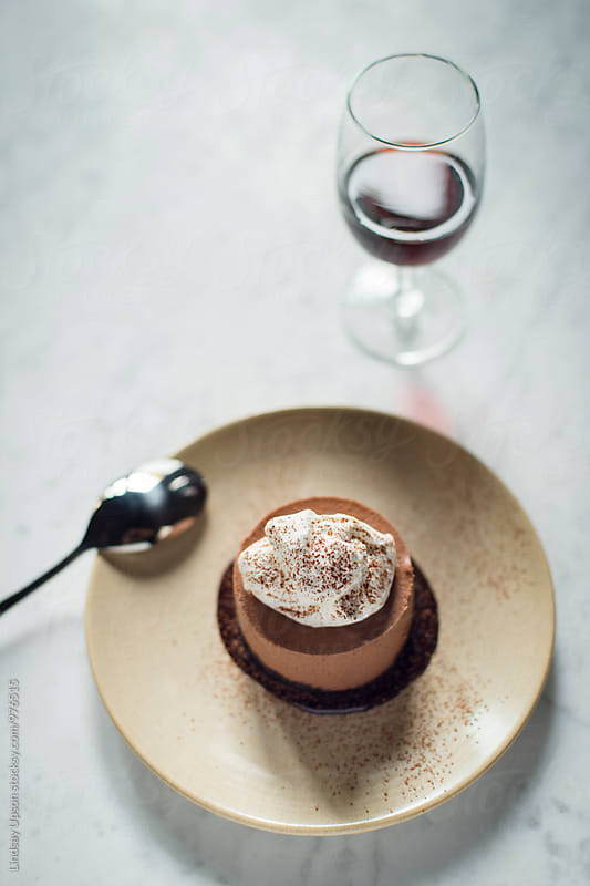 Chocolate Mousse Cake by Lindsay Upson for Stocksy United