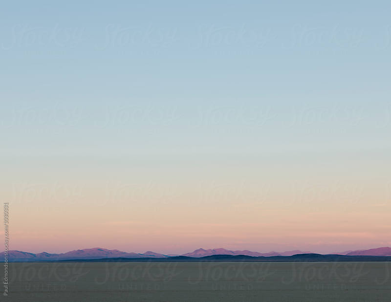Black Rock Desert at dawn, Nevada by Paul Edmondson for Stocksy United
