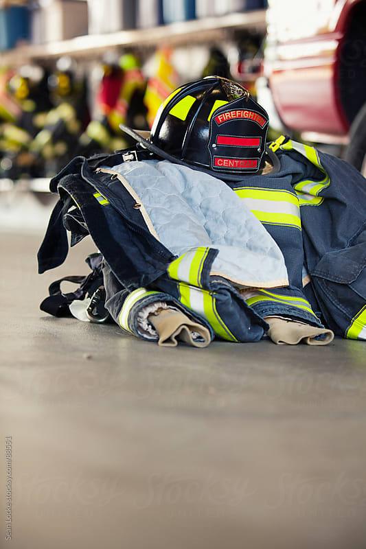 Firehouse: Turnout Gear on Floor by Sean Locke for Stocksy United