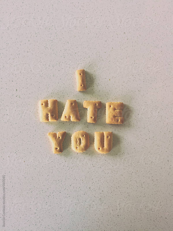 Cookie Note - I Hate You by Ronnie Comeau for Stocksy United