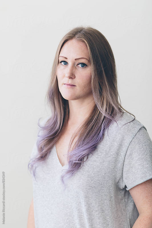 Purple Hair by Melanie Riccardi for Stocksy United