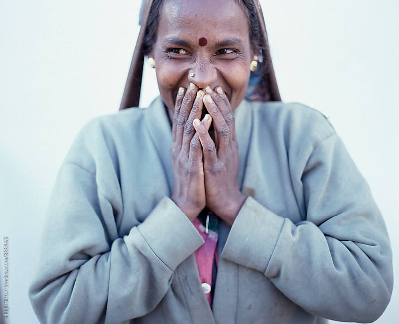 Portrait of Tea Plucker. Sri Lanka by Hugh Sitton for Stocksy United