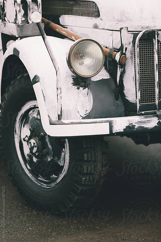 closeup of a german vintage car by Alexey Kuzma for Stocksy United