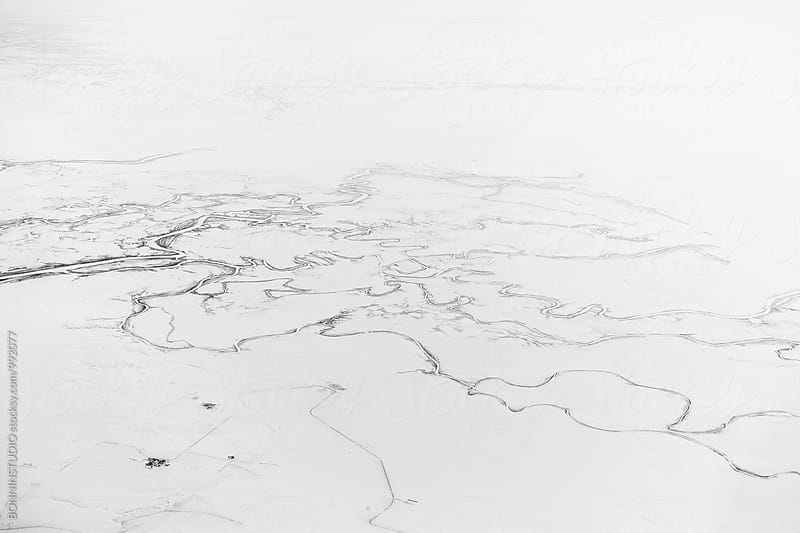 Siberia views from an airplane.  by BONNINSTUDIO for Stocksy United