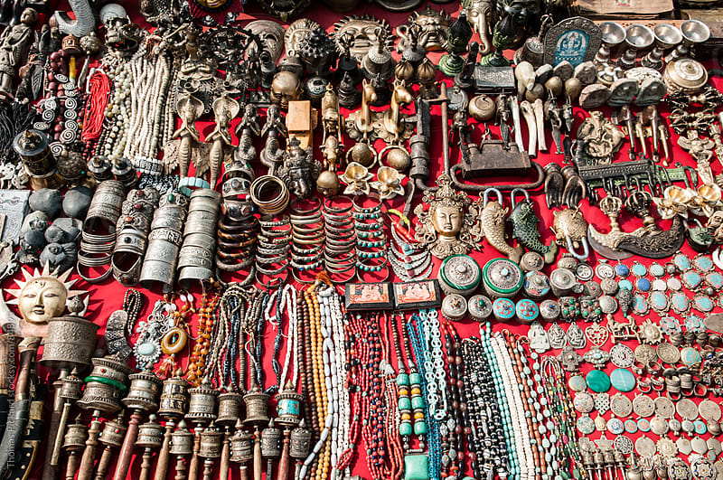 Goods for sale, Durbar Square, Kathmandu, Nepal. by Thomas Pickard for Stocksy United