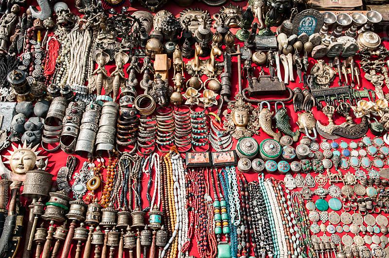 Goods for sale, Durbar Square, Kathmandu, Nepal. by Thomas Pickard Photography Ltd. for Stocksy United
