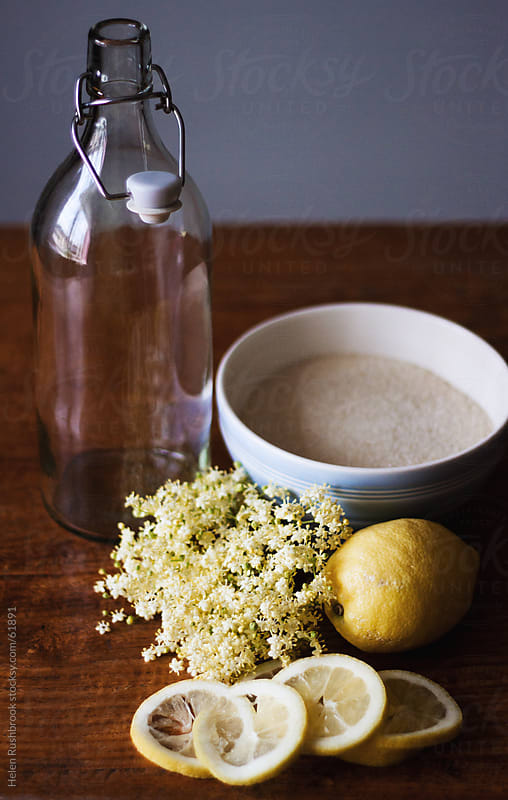 Ingredients for Elderflower Cordial by Helen Rushbrook for Stocksy United