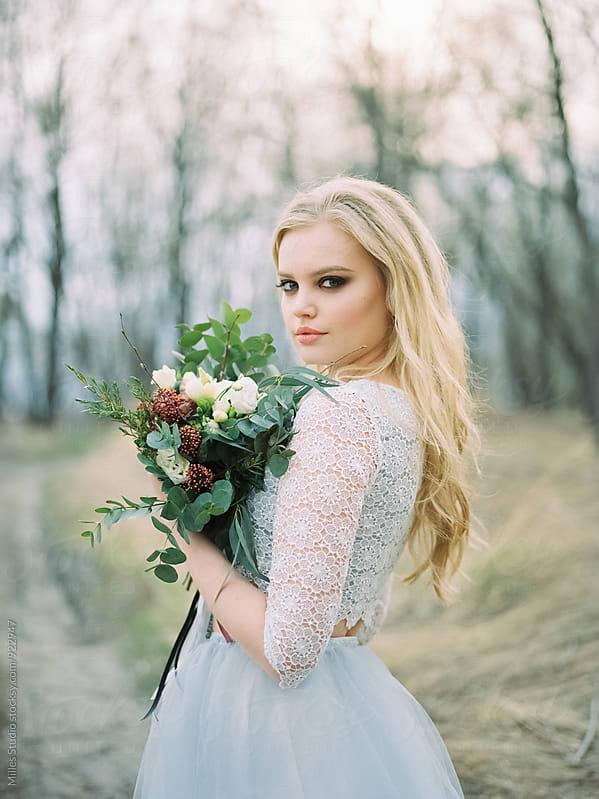 Bride Portrait by Milles Studio for Stocksy United