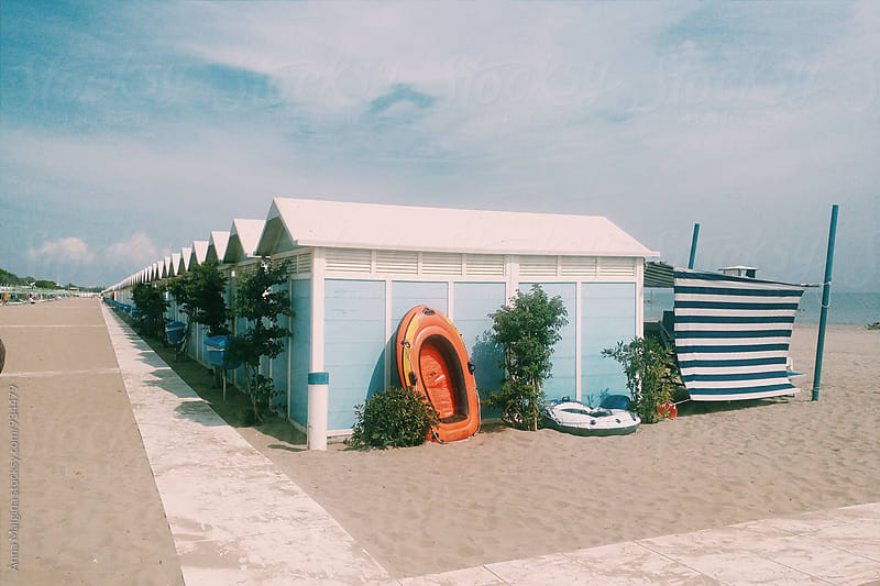 A beach houses on Lido by Anna Malgina for Stocksy United