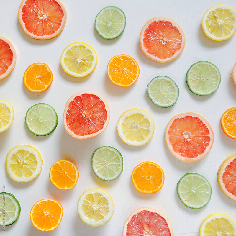Citrus, neatly organized by Sophia Hsin for Stocksy United
