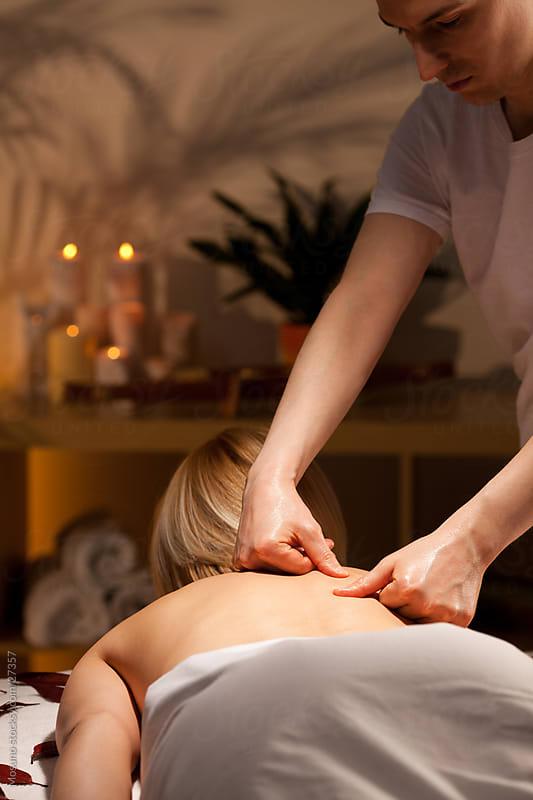 Woman enjoying spa treatment. by Mosuno for Stocksy United
