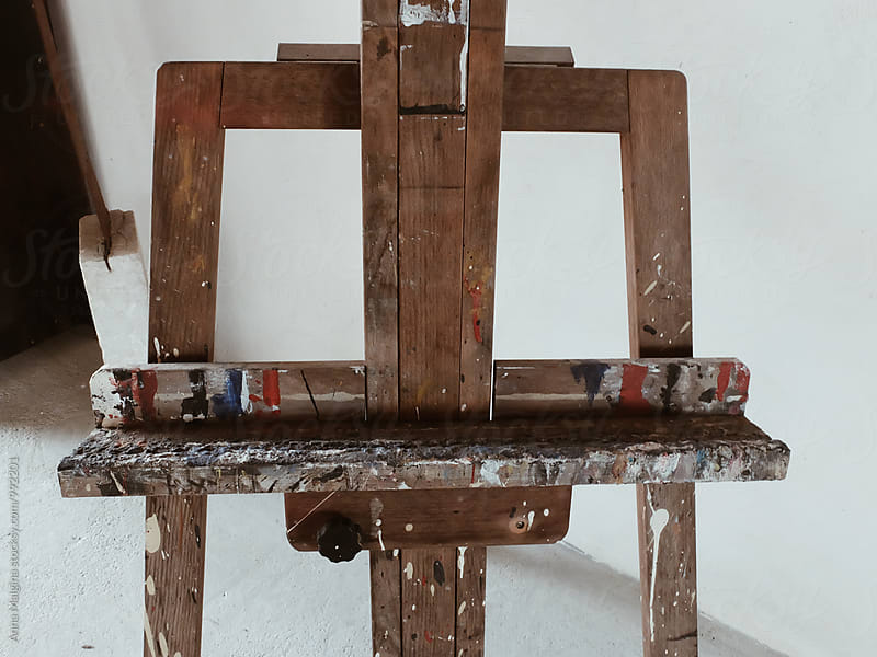 an old artist's easel  by Anna Malgina for Stocksy United