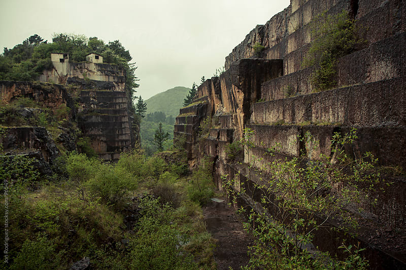 Abandoned quarry in the Vasque Country, Spain by Jon Rodriguez for Stocksy United