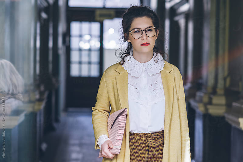 Portrait of a Young Stylish Businesswoman by Aleksandra Jankovic for Stocksy United