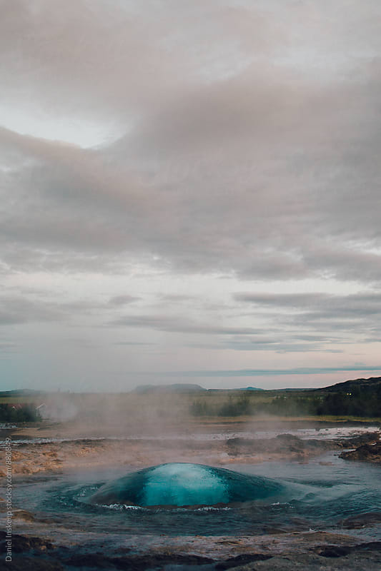 An Iceland Geyser Erupts by Daniel Inskeep for Stocksy United