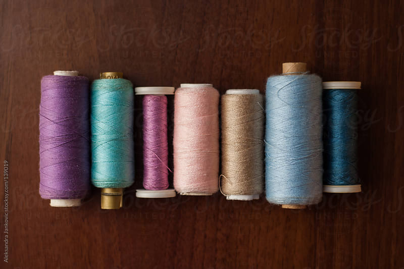 Pastel sewing threads by Aleksandra Jankovic for Stocksy United